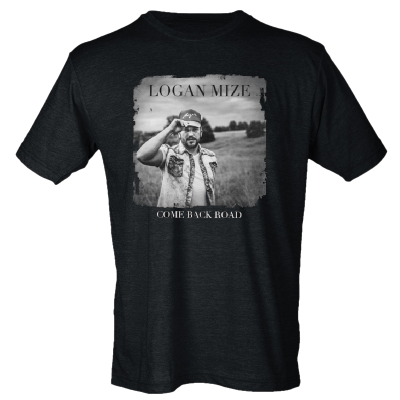 Logan Mize Heather Graphite Album Cover Tee