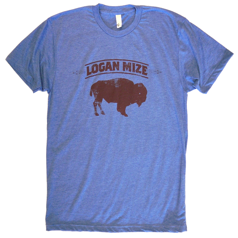 Logan Mize Heather Blue Buffalo Tee