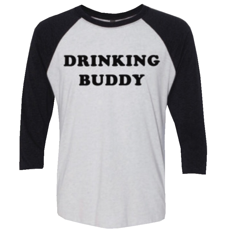 Logan Mize White and black Drinking Buddy Raglan