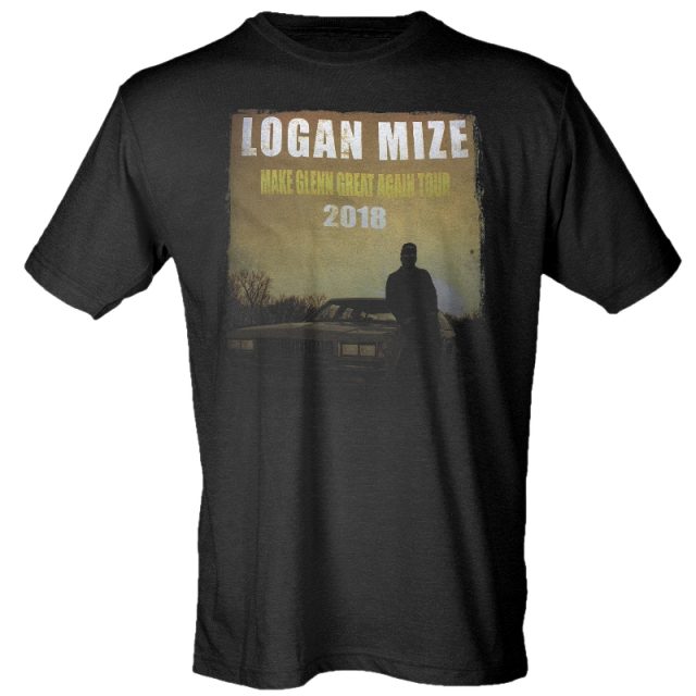 Logan Mize Black Make Glenn Great Again Tour Tee