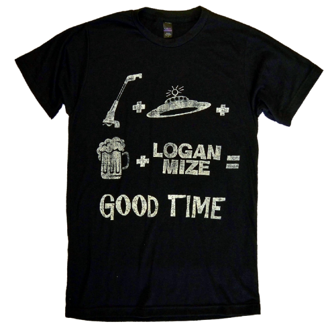Logan Mize Black Good Time Tee