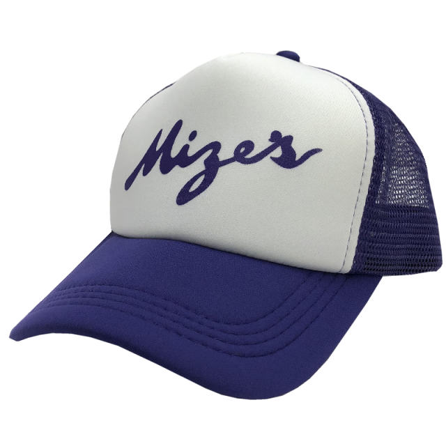 Logan Mize Purple and White Trucker Hat